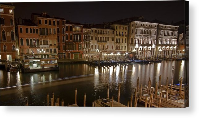 Architecture Acrylic Print featuring the photograph Venice By Night by Joana Kruse