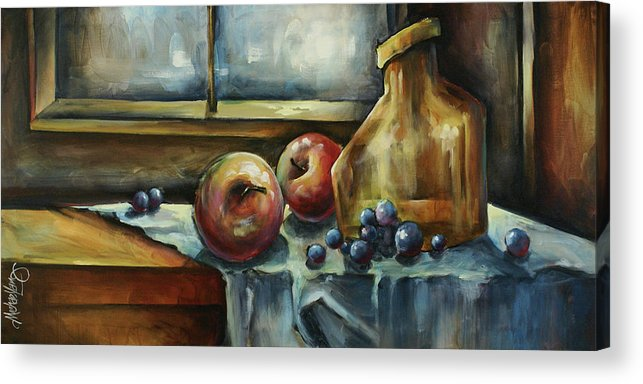 Still Life Acrylic Print featuring the painting Waiting by Michael Lang
