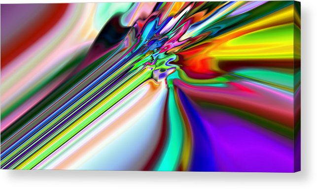 Abstract Acrylic Print featuring the digital art 2x1 Abstract 317 by Rolf Bertram