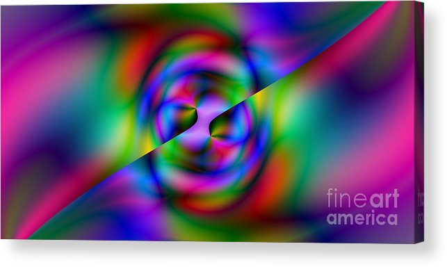 Abstract Acrylic Print featuring the digital art 2x1 Abstract 344 by Rolf Bertram
