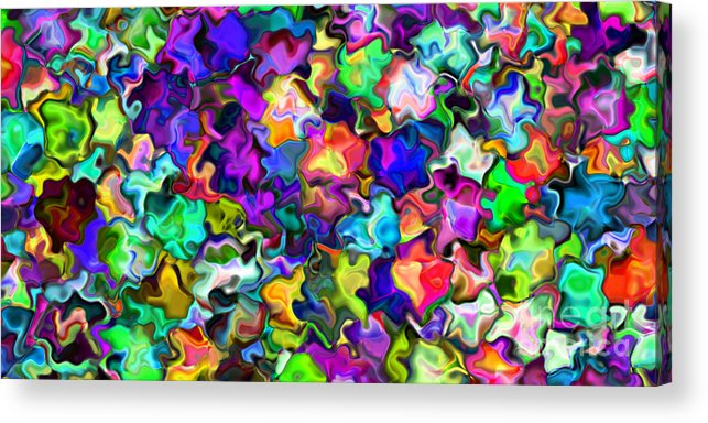Abstract Acrylic Print featuring the digital art 2x1 Abstract 366 by Rolf Bertram