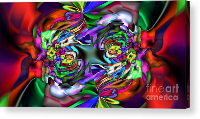 Abstract Acrylic Print featuring the digital art 2x1 Abstract 407 by Rolf Bertram
