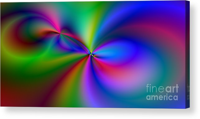 Abstract Acrylic Print featuring the digital art 2x1 Abstract 421 by Rolf Bertram