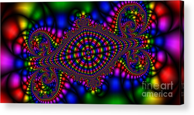 Abstract Acrylic Print featuring the digital art 2x1 Abstract 426 by Rolf Bertram