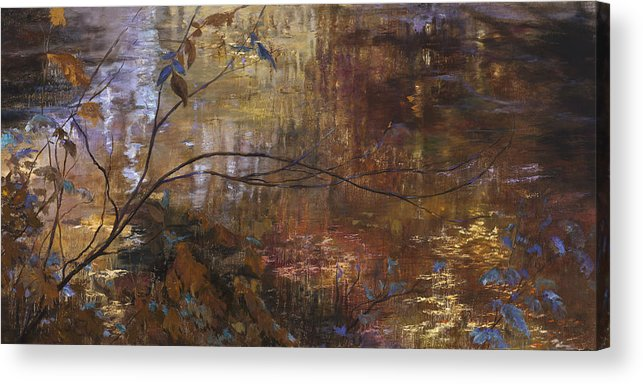 Abstract Reflections Acrylic Print featuring the painting Abstract Reflections by Jan Hardenburger