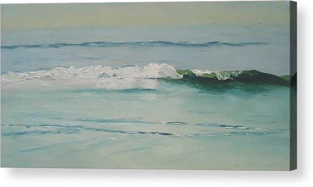 Water Acrylic Print featuring the painting Ah-h-h-h by Barbara Andolsek