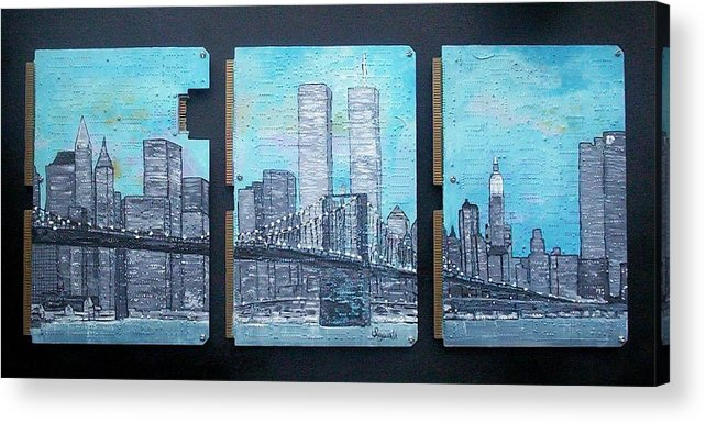 New York City Acrylic Print featuring the painting Always by Cary Singewald