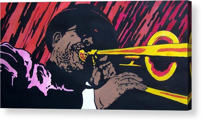 Jazz Acrylic Print featuring the painting Bone Daddy by Shane Hurd