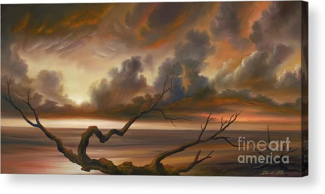 Ocean Acrylic Print featuring the painting Botany Bay by James Christopher Hill