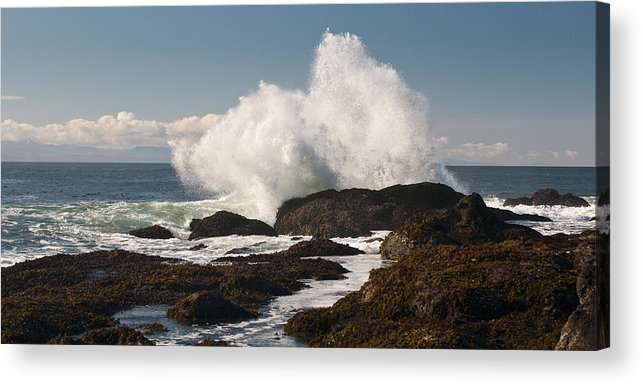 Shoreline Acrylic Print featuring the photograph Breaking On The Shore by Chad Davis