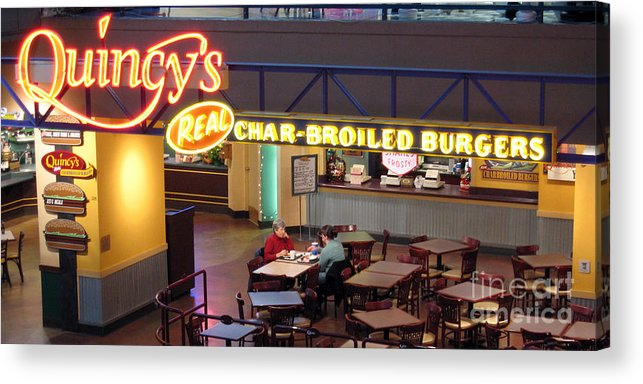 Restaurant Acrylic Print featuring the photograph Conversation by Larry Keahey