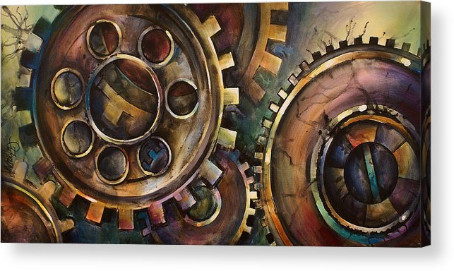 Acrylic Print featuring the painting Design One by Michael Lang
