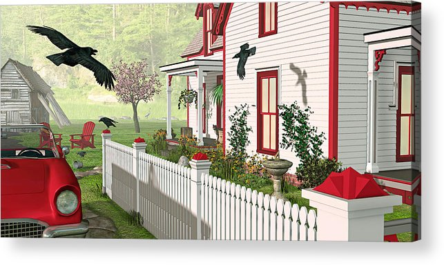 Victorian House Acrylic Print featuring the photograph Downeast Morning by Peter J Sucy