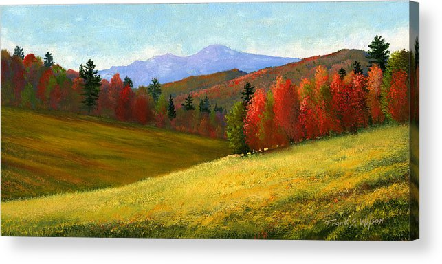 Landscape Acrylic Print featuring the painting Early October by Frank Wilson