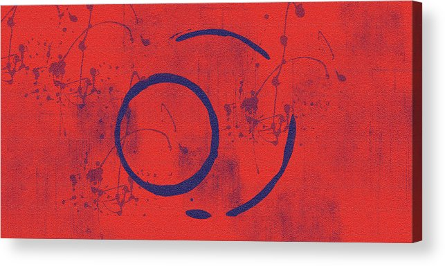 Red Acrylic Print featuring the painting Eclipse II by Julie Niemela