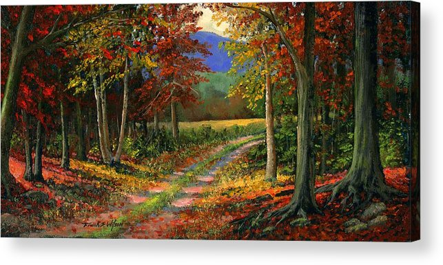 Landscape Acrylic Print featuring the painting Forgotten Road by Frank Wilson