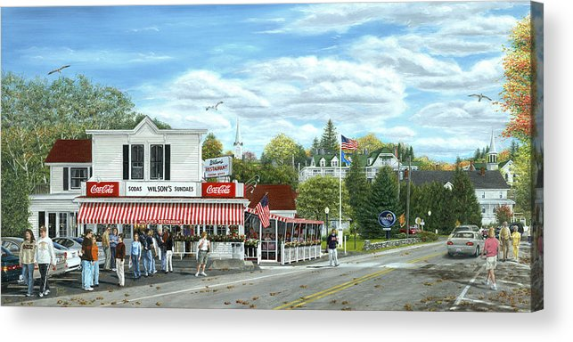 Door County Acrylic Print featuring the painting Fountain Of Youth by Doug Kreuger