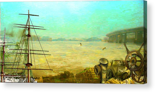Boat Acrylic Print featuring the painting Getting Long In The Tooth by Anne Weirich