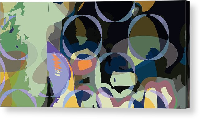 Abstract Acrylic Print featuring the digital art Greg1 by Scott Davis