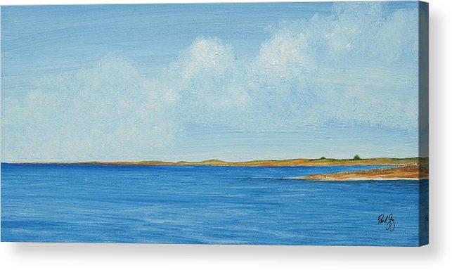 Gulf Coast Acrylic Print featuring the painting Gulf Impression 1 by Paul Gaj