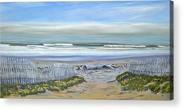 Seascape Acrylic Print featuring the painting Haskells Beach Morning by Jeffrey Campbell