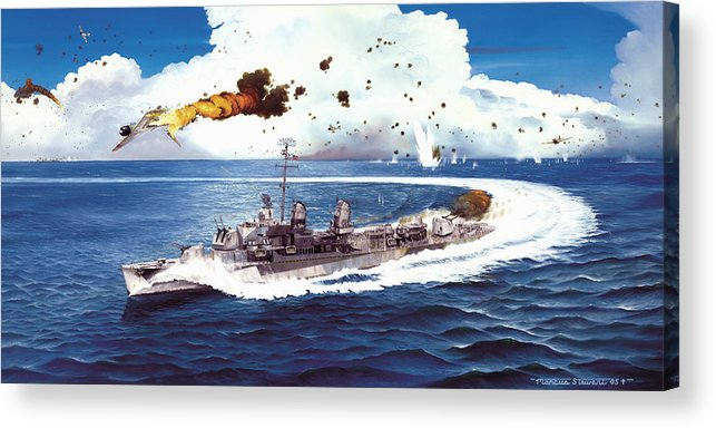 Aviation Acrylic Print featuring the painting Hell Over The Hadley by Marc Stewart