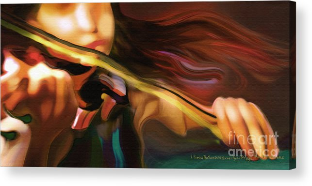 Girl Acrylic Print featuring the painting I Promise The Sun Will Shine Again by Mike Massengale