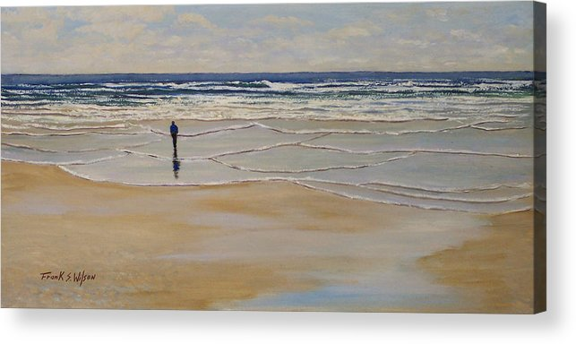 Beach Walk Acrylic Print featuring the painting Incoming Tide by Frank Wilson