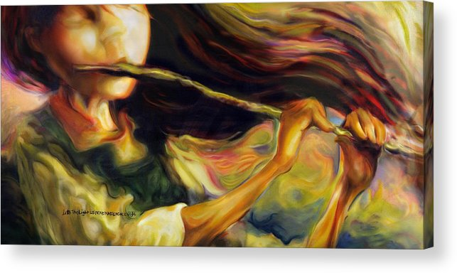 Girl Acrylic Print featuring the painting Into The Light by Mike Massengale