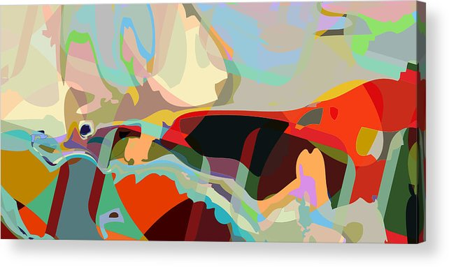 Abstract Acrylic Print featuring the digital art Jim 8 by Scott Davis