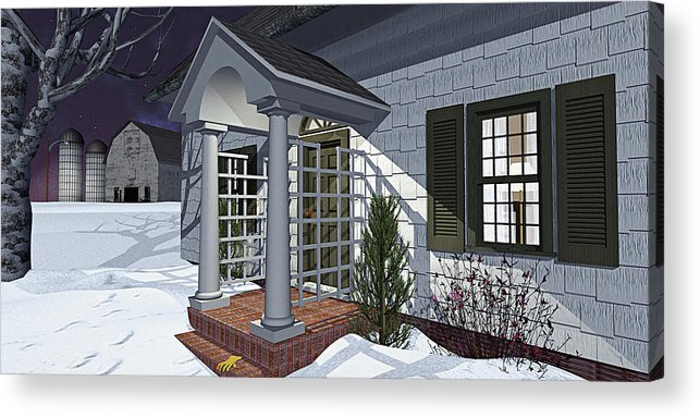 Porch Acrylic Print featuring the photograph Leave The Porch Light On by Peter J Sucy
