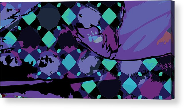 Abstract Acrylic Print featuring the digital art Mary 1 by Scott Davis