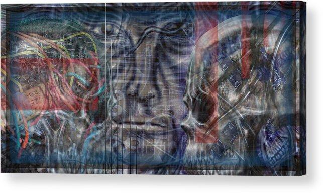 Skulls Acrylic Print featuring the digital art Mensrea by Leigh Odom