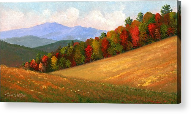 Landscape Acrylic Print featuring the painting Mid Autumn by Frank Wilson