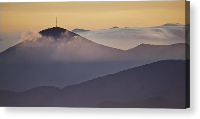 Parkway Acrylic Print featuring the photograph Mount Pisgah In Morning Light - Blue Ridge Mountains by Rob Travis