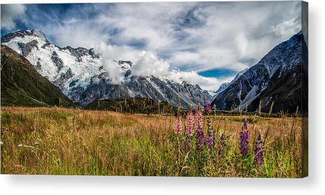 Landscape Acrylic Print featuring the photograph Mountain Valley by Steven Hirsch