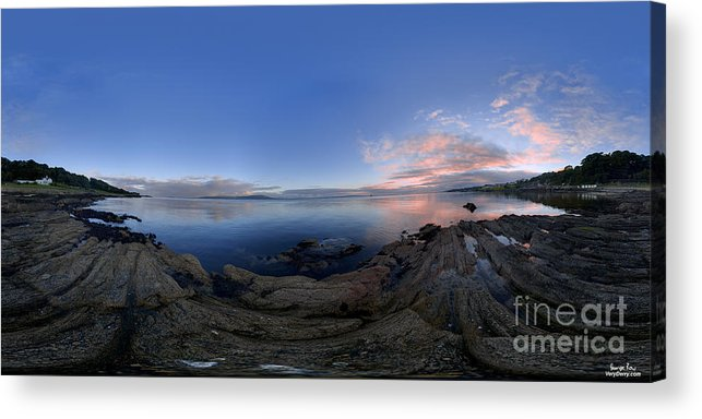 360 Acrylic Print featuring the photograph Moville Shoreline At Dusk by George Row