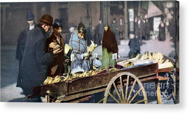 1900 Acrylic Print featuring the photograph New York: Banana Cart by Granger