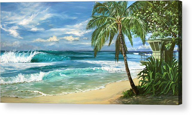 Hawaii Acrylic Print featuring the painting North Shore by Lisa Reinhardt