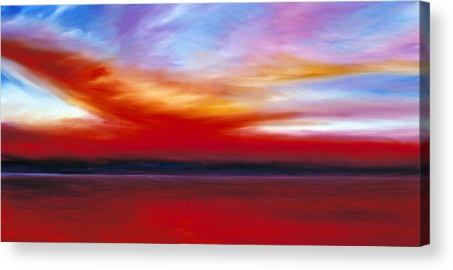 Clouds Acrylic Print featuring the painting October Sky by James Christopher Hill