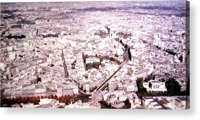 1955 Acrylic Print featuring the photograph Paris Panorama 1955 by Will Borden