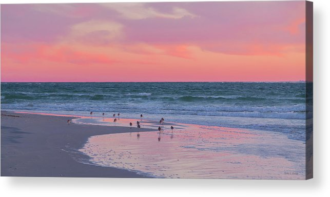 Sunset Acrylic Print featuring the photograph Peaceful Witnesses by Betsy Knapp