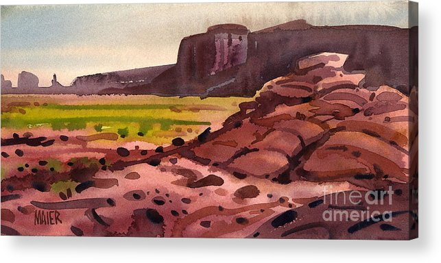 Monument Valley Acrylic Print featuring the painting Pillow Rocks by Donald Maier