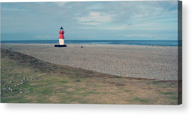 Lighthouse Acrylic Print featuring the photograph Point Of Ayre by Steve Watson