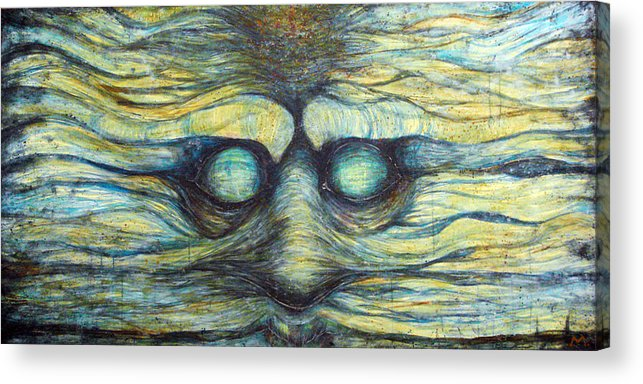 Face Acrylic Print featuring the painting Possession Of Mind by Mark M Mellon