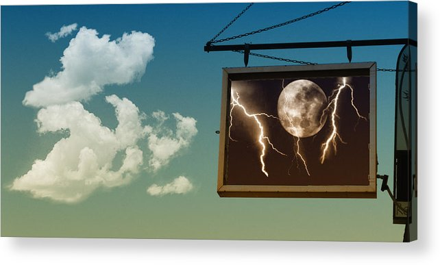 Sky Acrylic Print featuring the photograph Read The Signs by Kristie Bonnewell