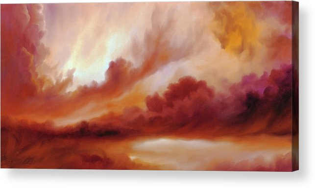 Skyscape Acrylic Print featuring the painting Receding Storm Sketch IIi by James Christopher Hill