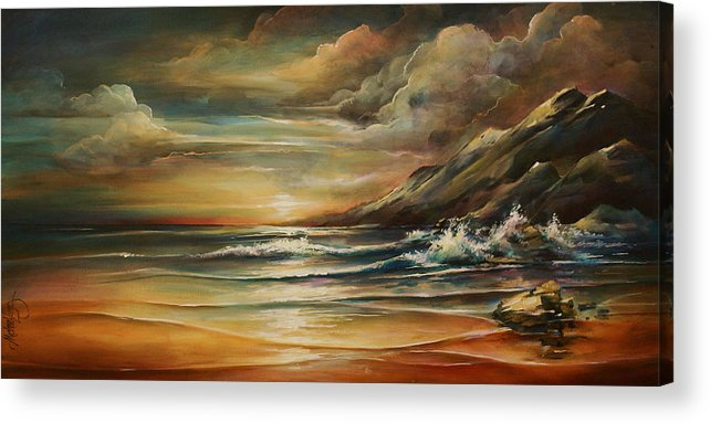 Seascape Acrylic Print featuring the painting Seascape 3 by Michael Lang