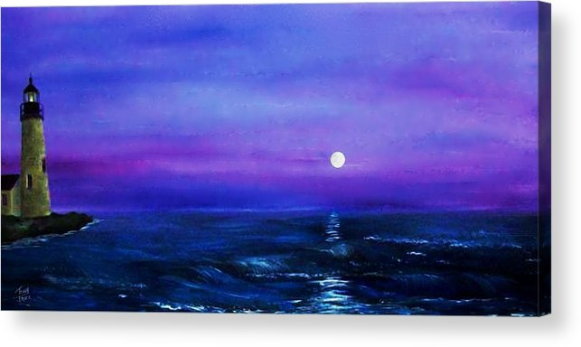 Seascape Acrylic Print featuring the painting Seascape II by Tony Rodriguez