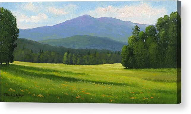 Landscape Acrylic Print featuring the painting Spring Vista by Frank Wilson